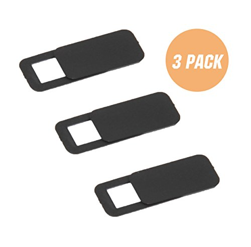 SBYURE Webcam Cover for Laptop Computer,Hacker Prevention,Camera Protection,Ultra Thin,Privacy,3-Pack, Black