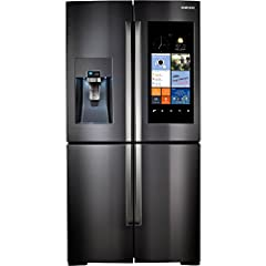 36 Inch 4-Door Refrigerator Family Hub WiFi LCD Touchscreen Built In Cameras 22.1 cu. ft. Capacity 5-Temperature FlexZone Compartment LED Lighting Ice Master Ice Maker External Water/Ice Dispenser ENERGY STAR Rated