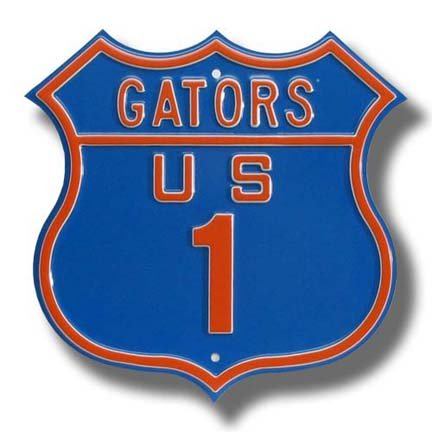 Authentic Street Signs Steel Route Sign: Gators US 1