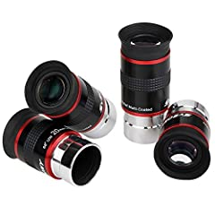 SVBONY 68 degree ultra wide long eye relief eyepiece with a comfortable wide field for planetary observing Super wide 68 degree apparent field offers expansive views of the moon;star clusters;and the Milky Way It helps gets sharpness;high con...