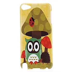 Owl and Mushroom Pattern Protective Hard Case for iPod Touch 5