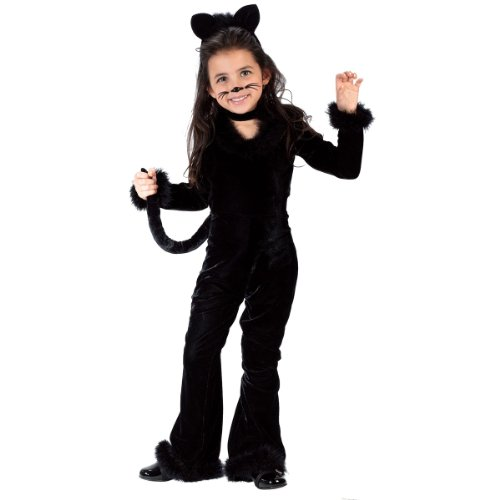 Fun World Costumes Baby Girl's Toddler Playful Kitty Costume, Black, Large (3T-4T) - Baby Girl Cat Costumes