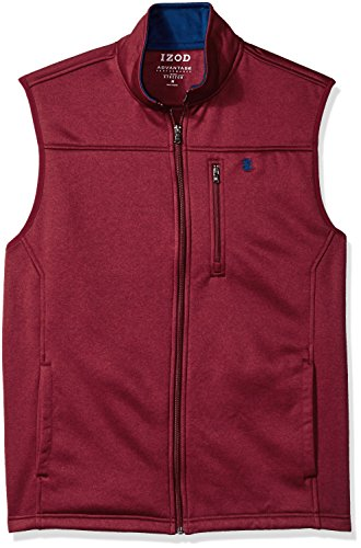 IZOD Men's Sportswear IZOD Men's Full Zip Soft Fleece Vest, Biking Red Heather X-Large price tips cheap