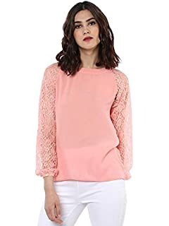 a54f3f8be5b SASSAFRAS Women's Cropped Ivory Top: Amazon.in: Clothing & Accessories