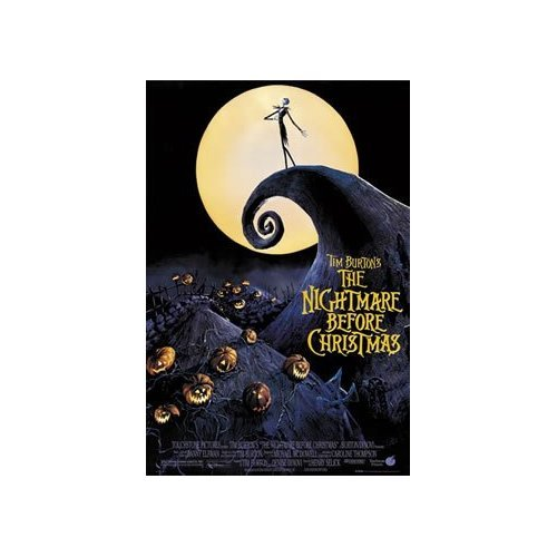 The Nightmare Before Christmas Poster Moon New