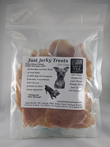 Natural Chicken Jerky Dog Treats - 100% Natural Chicken, No Fillers or Chemicals! Made In USA! (10oz)