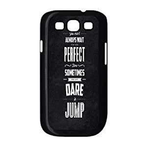 Samsung Galaxy S3 9300 Cell Phone Case Black quotes jump motivation W3Y7UG