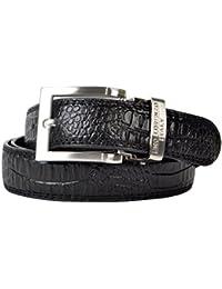Fashionable Faint Pattern Men's Leather Belt