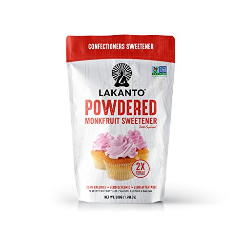Lakanto Monkfruit 2:1 Powder Sugar Substitute | 1 Ib NON GMO (Classic Powder) Sugar Sweetener