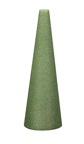 FloraCraft Styrofoam Cone 4.8 Inch x 17.8 Inch Green -