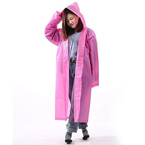 Adulto Chaqueta Pink De Sección Más Grueso Poncho Larga Femenino Senderismo Lluvia Chic Yasminey Portátil Ropa Impermeable Chaquetas xHq7TIwI