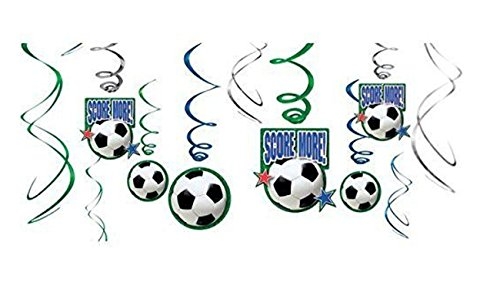 amscan Soccer Hanging Swirl Party Decorations ()