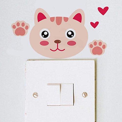 switch-wall-sticker-ecurson-cute-pink-cartoon-cat-wall-stickers-light-switch-decor-decals-art-mural-