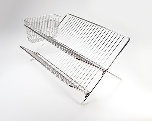 RSVP Endurance Stainless Steel Compact Folding Dish Rack