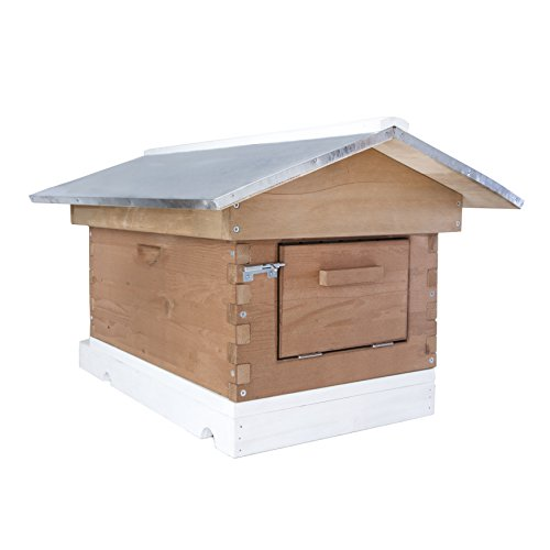 SummerHawk Ranch Backyard Bee Hive, 3-YEAR Warranty - Durable Wooden Bee House with Quick-Check Super, 8 frames, Beekeeping Equipment for Honeybees, Honey Harvesting