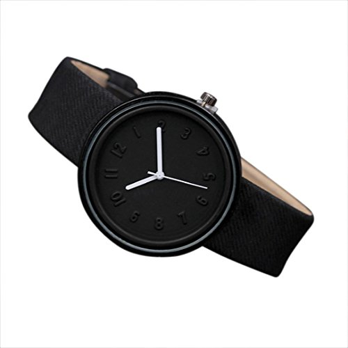 AutumnFall Wrist Watch, Women Men Simple Fashion Number Watches Quartz Canvas Strap Watch ()
