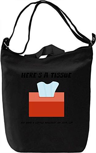 Here's a tissue Borsa Giornaliera Canvas Canvas Day Bag  100% Premium Cotton Canvas  DTG Printing 