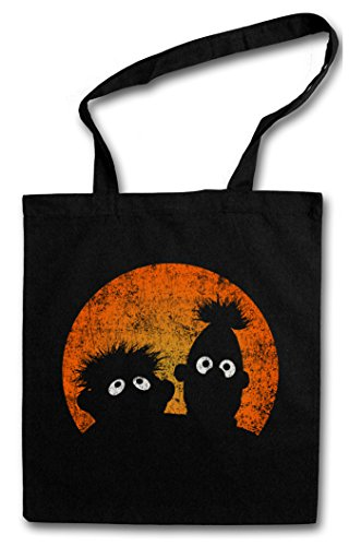 E & B PUPPETS Hipster Shopping Cotton Bag Borse riutilizzabili per la spesa – poupées Logo Ernie Movie TV and Series und Puppen Bert