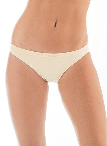 Brubeck 5x BI00043 COMFORT COTTON Damen Bikini Slip | Perfect Fit | Nahtlos | Unterwäsche | Sport | Funktionswäsche | Baumwolle | Polyamid | Premium Qualität beige RAL0Brtni