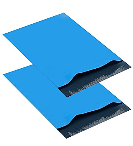 Open Poly Envelope ((Pack of 100) 6x9 Sky-BLUE Poly Mailers Shipping Envelopes Bags ( 6