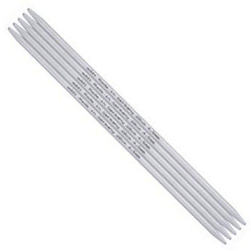 Pointed Addi Needles Double (addi Double Pointed Aluminum 4-inch (10cm) Knitting Needles (Set of 5); Size US 01 (2.50 mm))