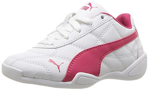 PUMA Kids' Tune Cat 3 Sneaker, puma white-love potion, 3.5 M US Big Kid