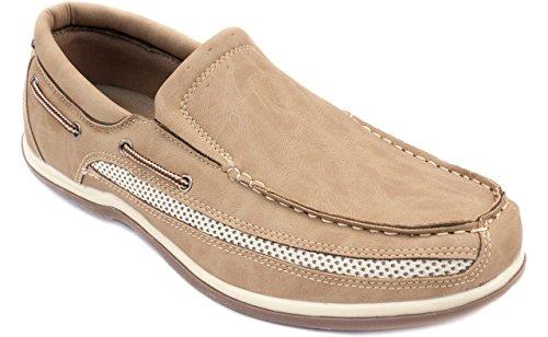 - Flexsoles Cruiser Men's Slip-On Beige Air Mesh Laceless Boat Shoe 10 M US