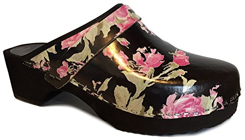 Moheda Rosa' Swedish Clogs - Fancy - Size EU36