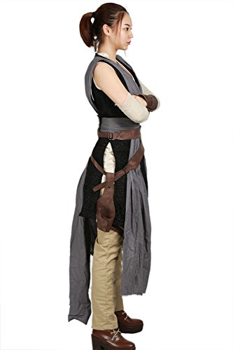 XCOSER Rey Costume Deluxe Cool Full Set Tops Belt Tunic Movie Cosplay Women Outfit M by xcoser (Image #3)