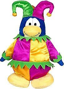 (Disney Club Penguin 6.5 Inch Series 3 Plush Figure Court Jester (Includes Coin with Code!))