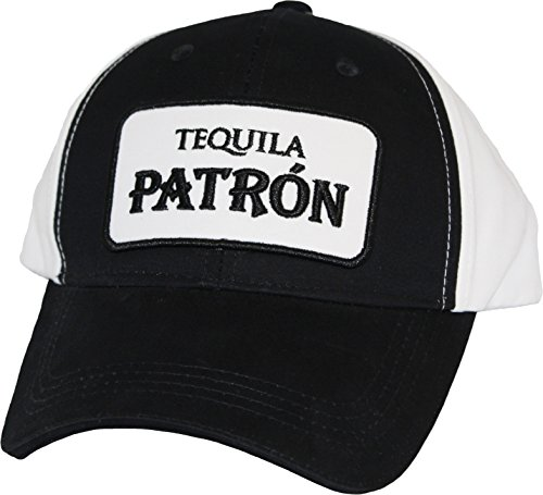 patron-baseball-hat-adult-one-size-black-and-white