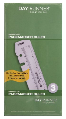 (Day Runner Plastic Page Marker Ruler, Clear (043-104))