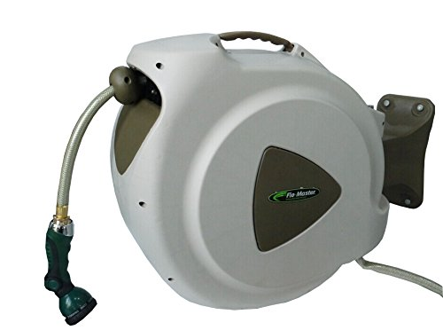 RL Flo-Master 65HR8 Retractable Hose Reel with 8 Spray Pattern Nozzle, 65-Foot - Hose Reel Mounting