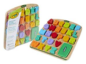 Crayola Wooden Puzzle with Alphabet Letter Stamps, 27 Pieces,  Durable Educational Toy,  Toddlers, Literacy Educational Teaching Aids, Perfect for Preschool Education use!