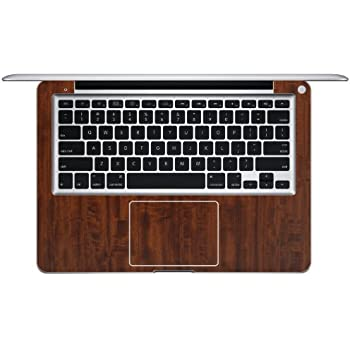 iCarbons Dark Wood Grain Vinyl Skin for MacBook Pro 13-Inch Full Combo