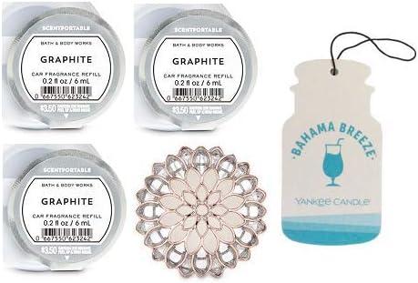 Bath And Body Works Dahlia Flower Visor Clip Auto Duft Halter Und 3 Duftportable Graphit Papp Autoduft Bahama Breeze Küche Haushalt