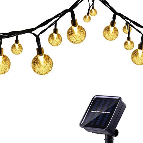 Tuokay, Tuinverlichting op Zonne-energie, Kerstverlichting Buiten met Ballen, Waterdichte 6m 30 LED 8 Modi, Decoratieve…