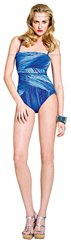 Gottex Women's Metallics One Piece Bandeau, Blue Metal, 10