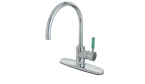7-5//8 Polished Chrome Kingston Brass GKS881C Legacy Single-Handle Pull-Down Kitchen Faucet