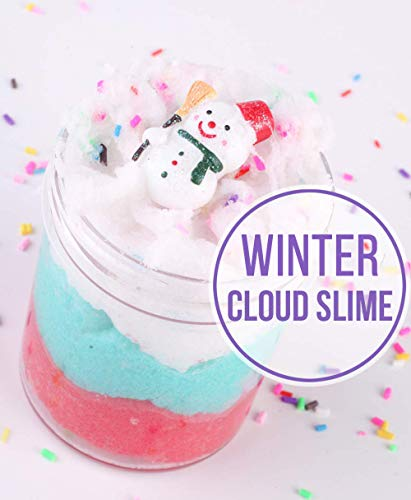 (Dorothyworld 2018 Newest Fairy Putty Cloud Slime,Super Soft and Non-Sticky(150ML 5OZ) with Snowman and Chocolate Charm)