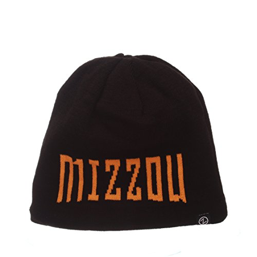 (ZHATS NCAA Missouri Tigers Adult Men Ricochet Reversible Beanie, Adjustable, Team Color/Heather Gray)