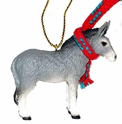 Donkey Christmas Ornaments.Donkey Tiny Miniature One Christmas Ornament Delightful