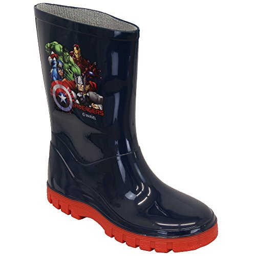 Stiefel Jungen Minions Marvel Gummistiefel Thor Hulk Captain America Wadenlang Marineblau - AVEWELLY2