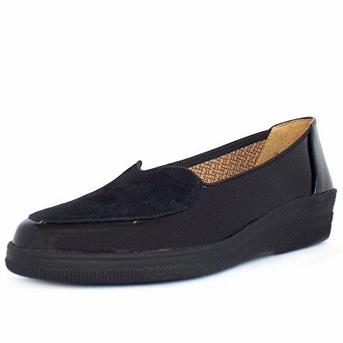 Gabor Blanche - Zapatos sin cordones de cuero mujer BLACK PATN