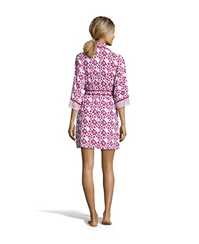 Nanette Nanette Lepore Womens Chemise Nightgown and Floral Belted Robe Pajama Set Raspberry X-Large by Nanette Lepore (Image #2)