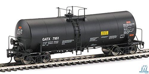 Gatx Black Tank Cars - 40' Trinlty 14,000-Gallon Molten Sulfur Tank Car - Ready to Run -- GATX #7951 (black)