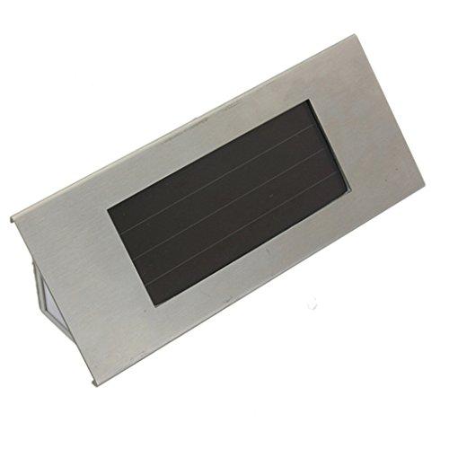 Vollter 4 LED rostfreier Stahl Solar 4LED Zahl beleuchtete Tür-Wand-helle Lampe
