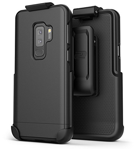 (Encased Galaxy S9 Plus Belt Case, [SlimShield Series] Protective Grip Case with Holster Clip for Samsung Galaxy S9+ (2018 Release) Smooth)