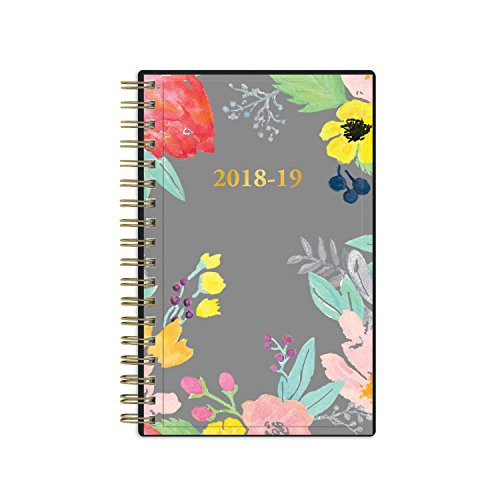 July 2018-June 2019 Weekly/Monthly Wirebound Planner, Blue Sky Create Your Own Sophie/Nicole. Size 3.625