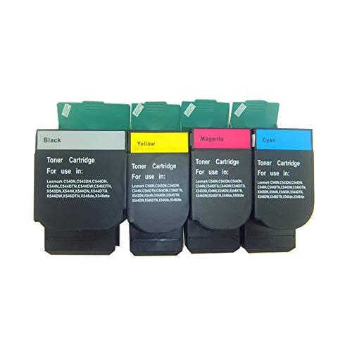 X543dn Color Laser - Hehua Compatible Lexmark C544X1KG C544X1CG C544X1MG C544X1YG Toner Cartridge for Lexmark C540N C543DN C544DN C544DTN C544DW C544N C546DTN X543DN X544DN X544DTN X544DW X544N X546DTN X548DE 1B/1C/1M/1Y